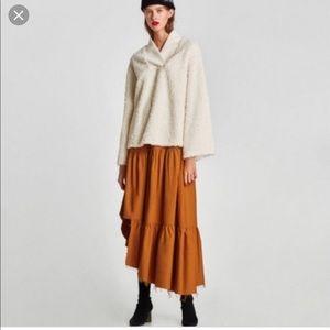BNWT Zara Asymmetrical Terracotta Maxi Skirt